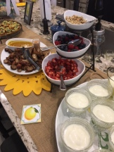 Yogurt bar and sausage bites rounded out the brunch menu.