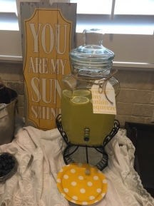 Lemonade stand in the beverage station.