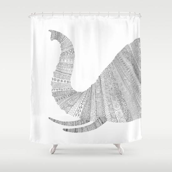 animals-qz-shower-curtains